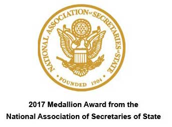2017 Medallion Award from the National Association of Secretaries of State