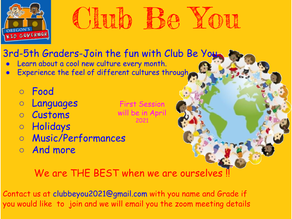 Club Be You Flyer