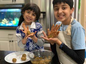 Taneesh and his sister make falafel