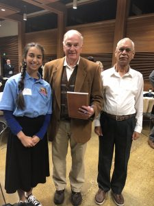 Raaga with council member and her grandfather.