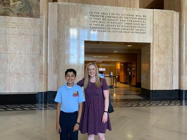 Taneesh and Nikki at the Oregon Capitol